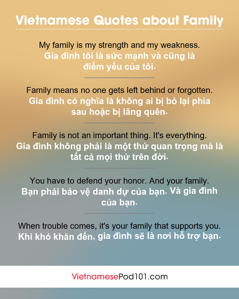 Vietnamese Family Quotes