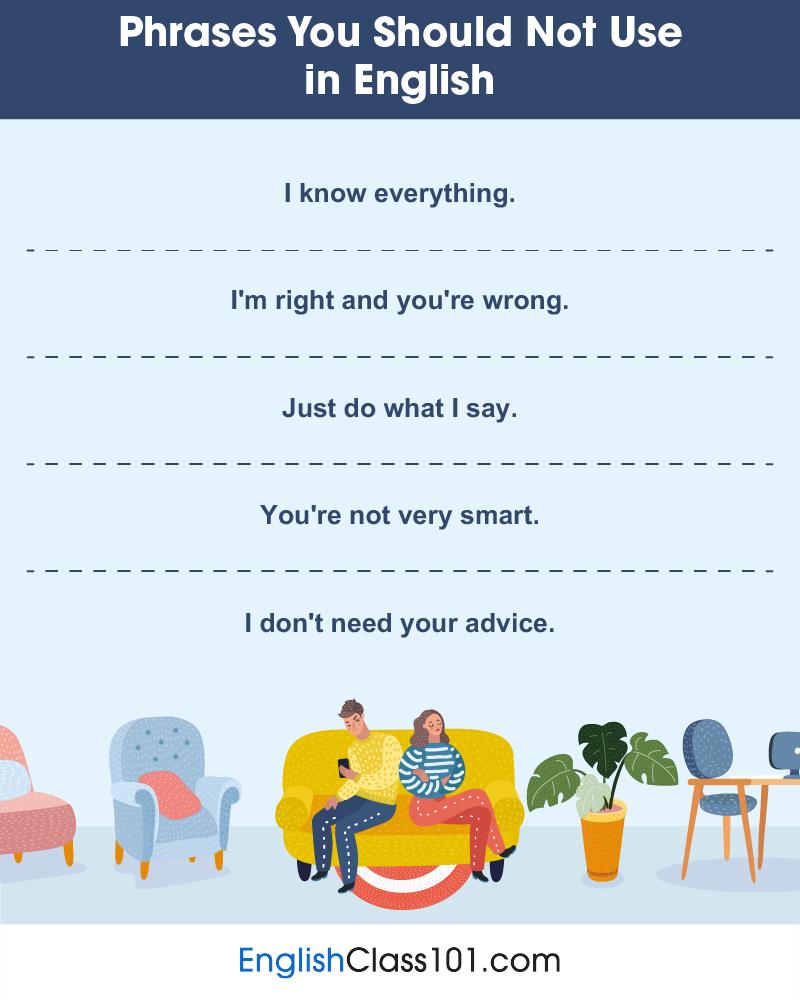 Bad Phrases