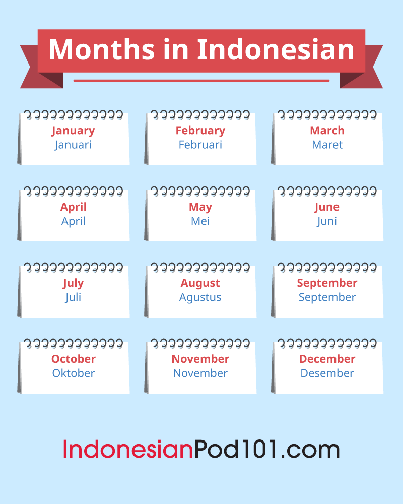Indonesian months