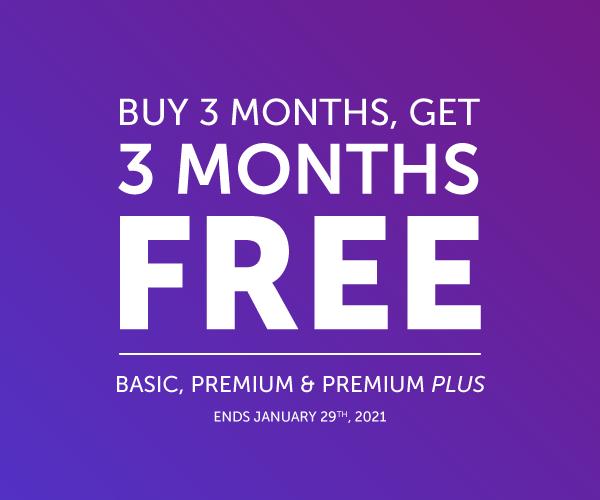 Buy 3 Get 3 with Basic, Premium or Premium PLUS.