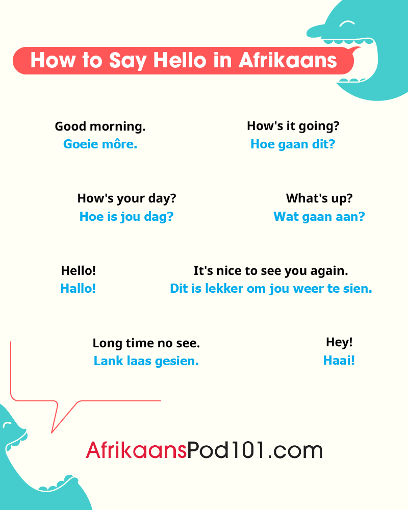 Afrikaans Greetings