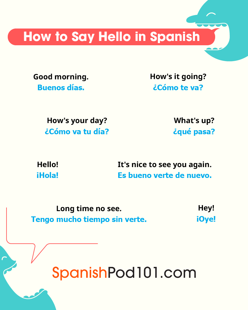 How to say hi can i help you in spanish