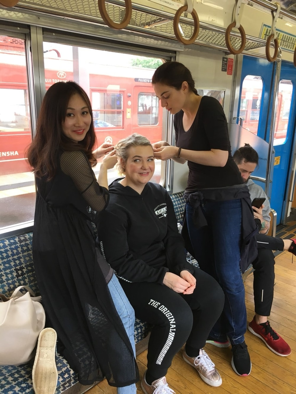 Hairdressers and a Customer