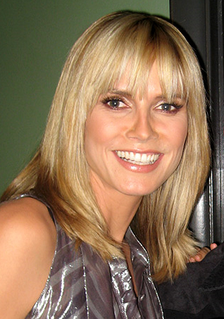 The model Heidi Klum as a portrait