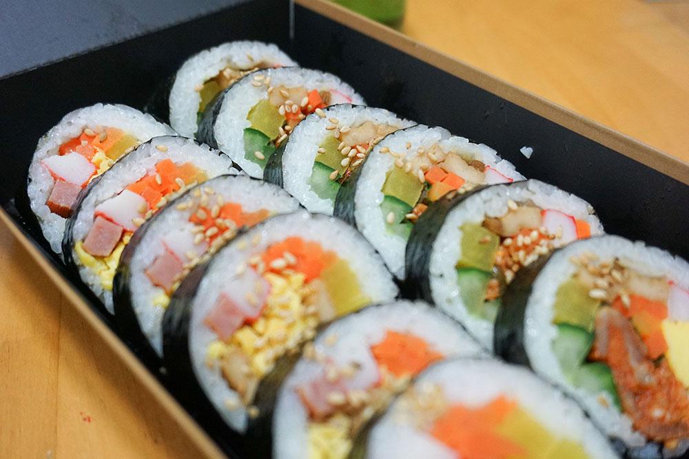 Korean Traditional Seaweed Rice Rolls