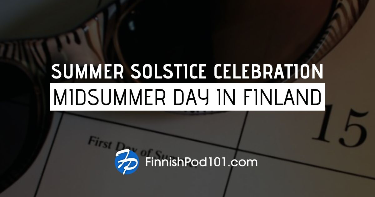 Midsummer day in Finland