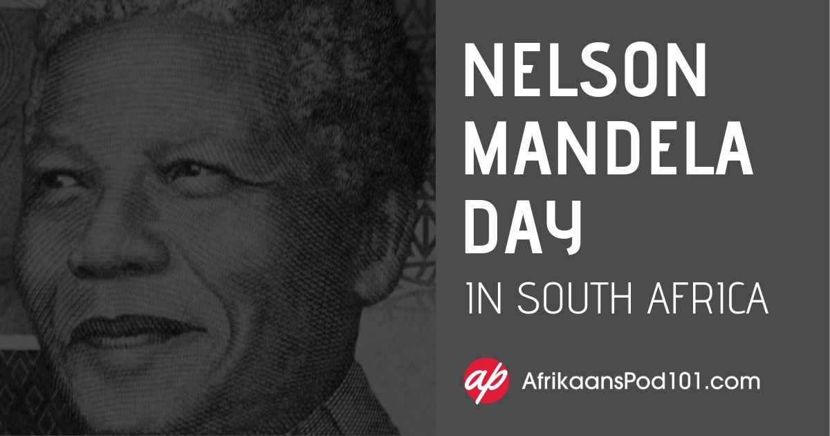 Nelson Mandela Day in South Africa