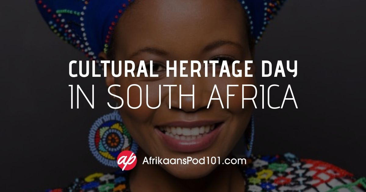 Cultural Heritage Day in South Africa