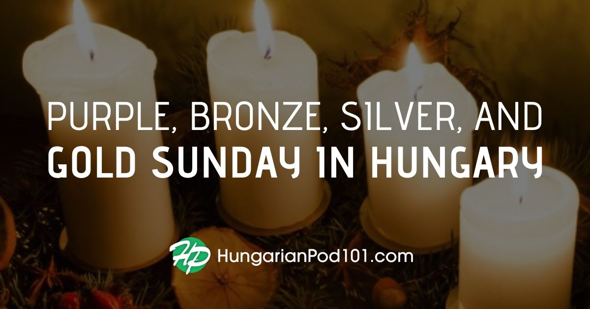 Purple, Bronze, Silver, and Gold Sunday in Hungary