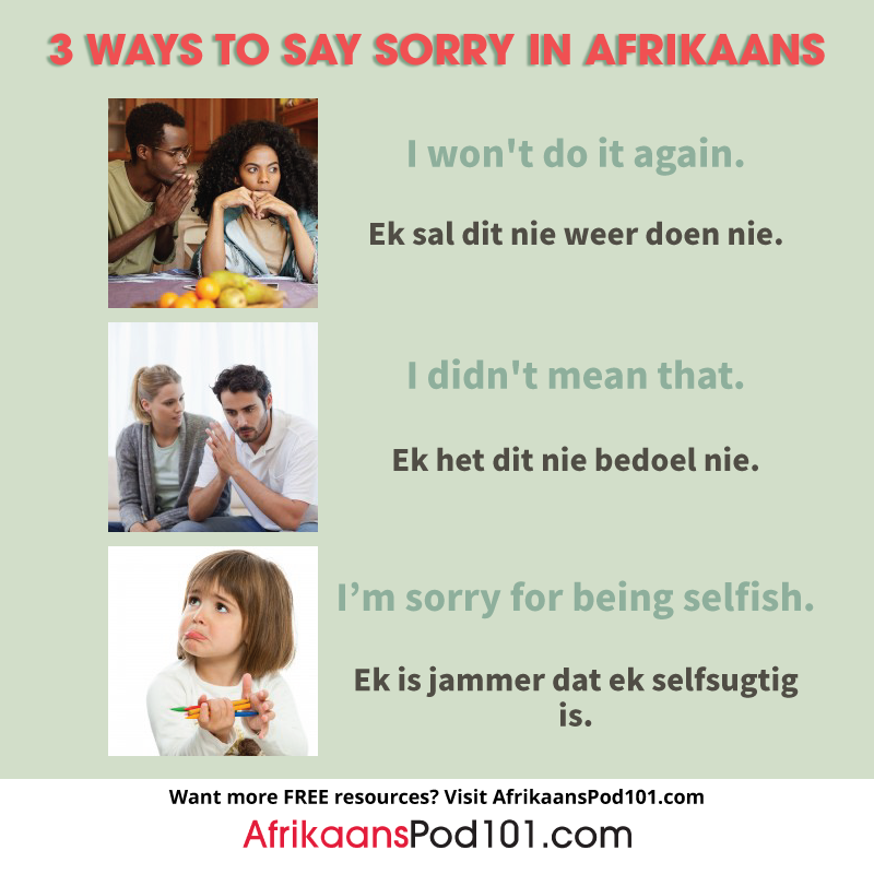 3 Ways to Say Sorry
