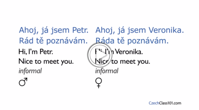 Click here to learn how to introduce yourself in Czech!