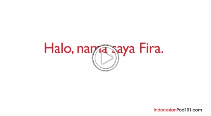 Click here to learn how to introduce yourself in Indonesian!