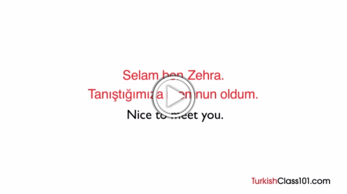 Click here to learn how to introduce yourself in Turkish!