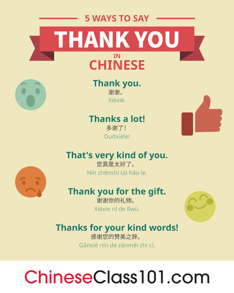 5 Ways to Say Thank You in Chinese