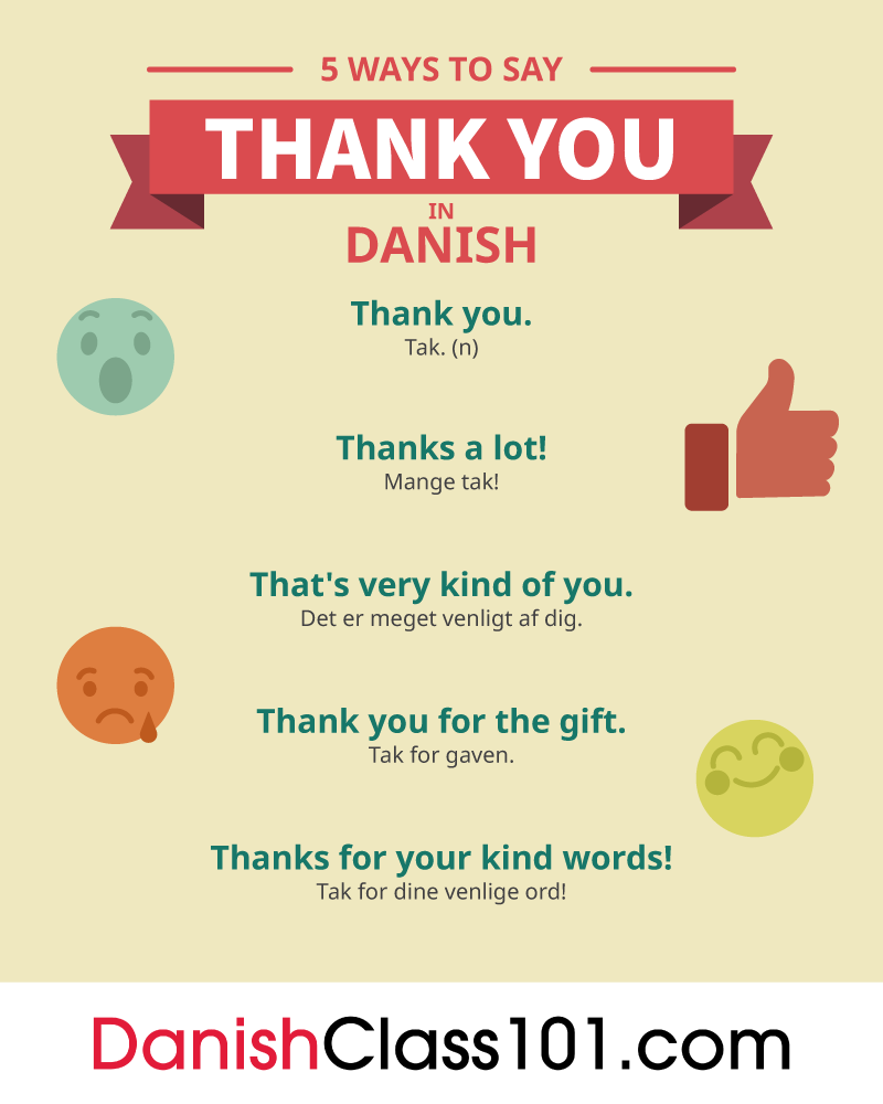How To Say Thank You In Danish Danishclass101
