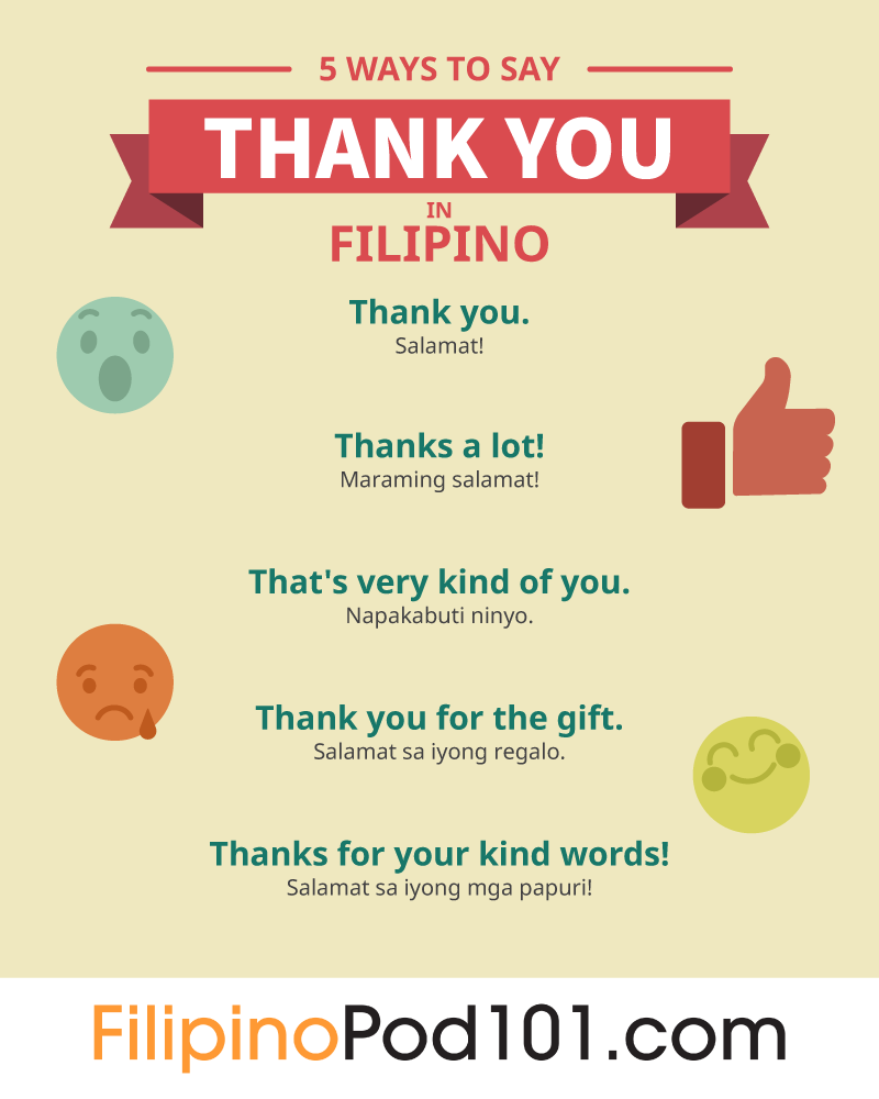 5 Ways to Say Thank You in Filipino