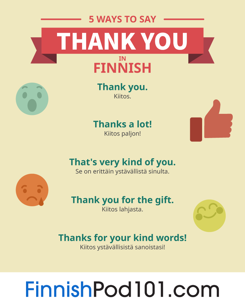 5 Ways to Say Thank You in Finnish