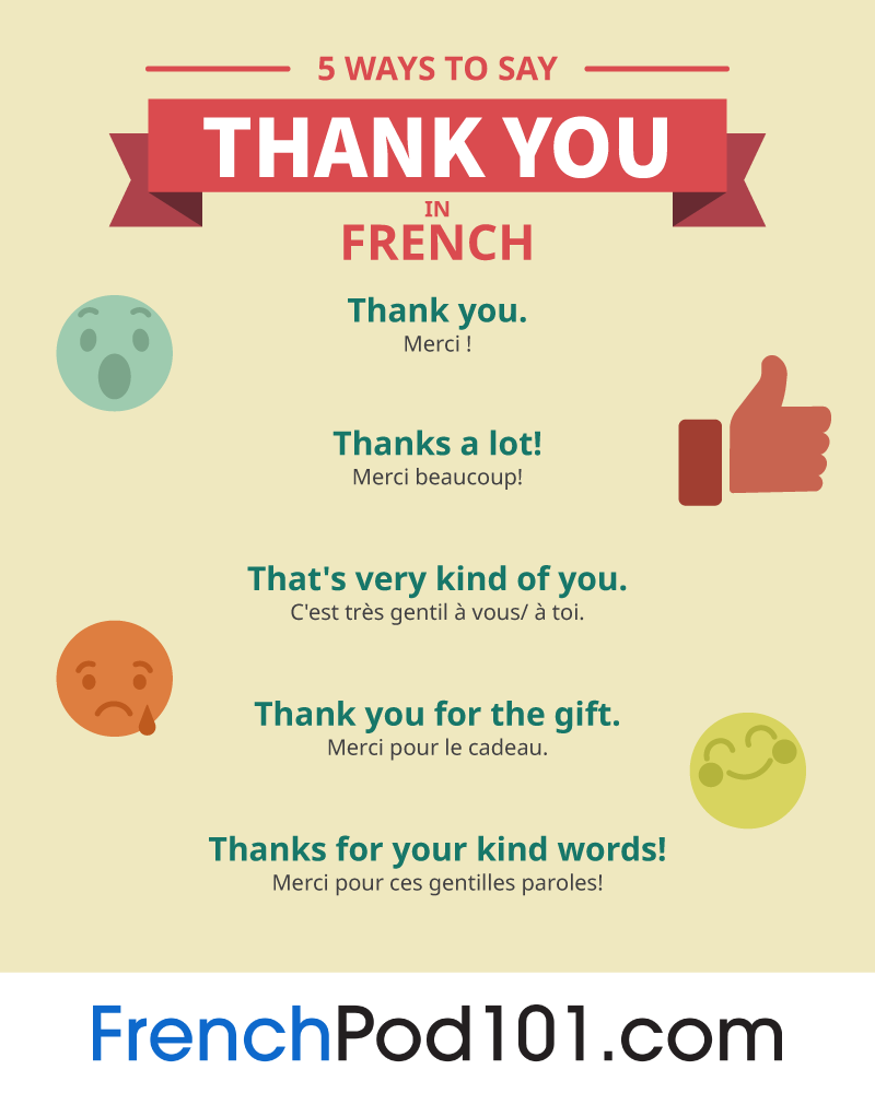 How To Say Thank You In French Frenchpod101
