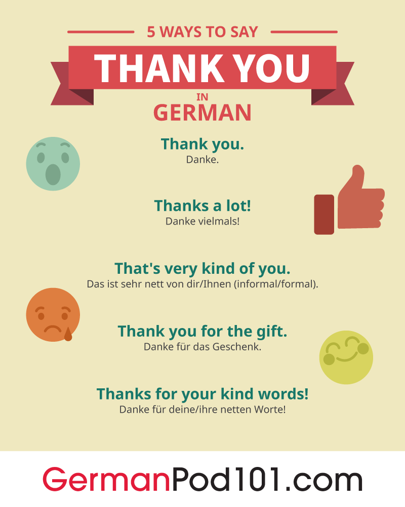 5 Ways to Say Thank You in German