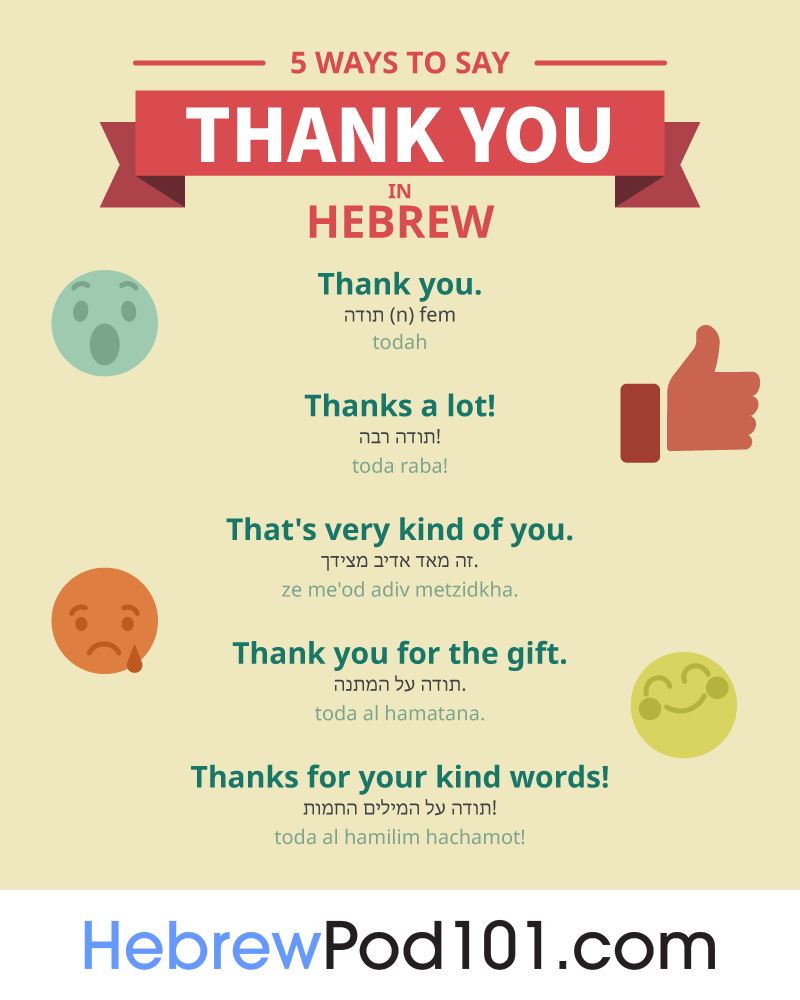 5 Ways to Say Thank You in Hebrew