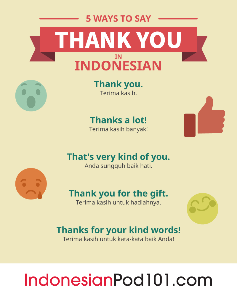 How to say thank you in indonesian indonesianpod101 5 ways to say thank you in indonesian m4hsunfo