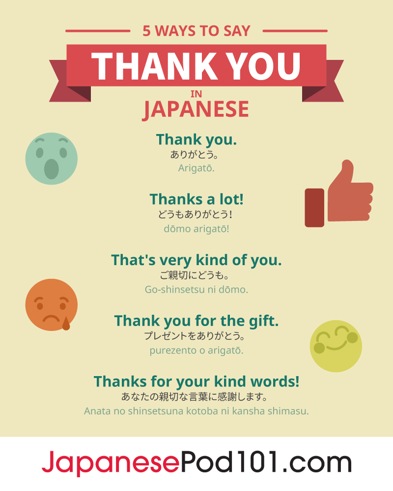 5 Ways to Say Thank You in Japanese