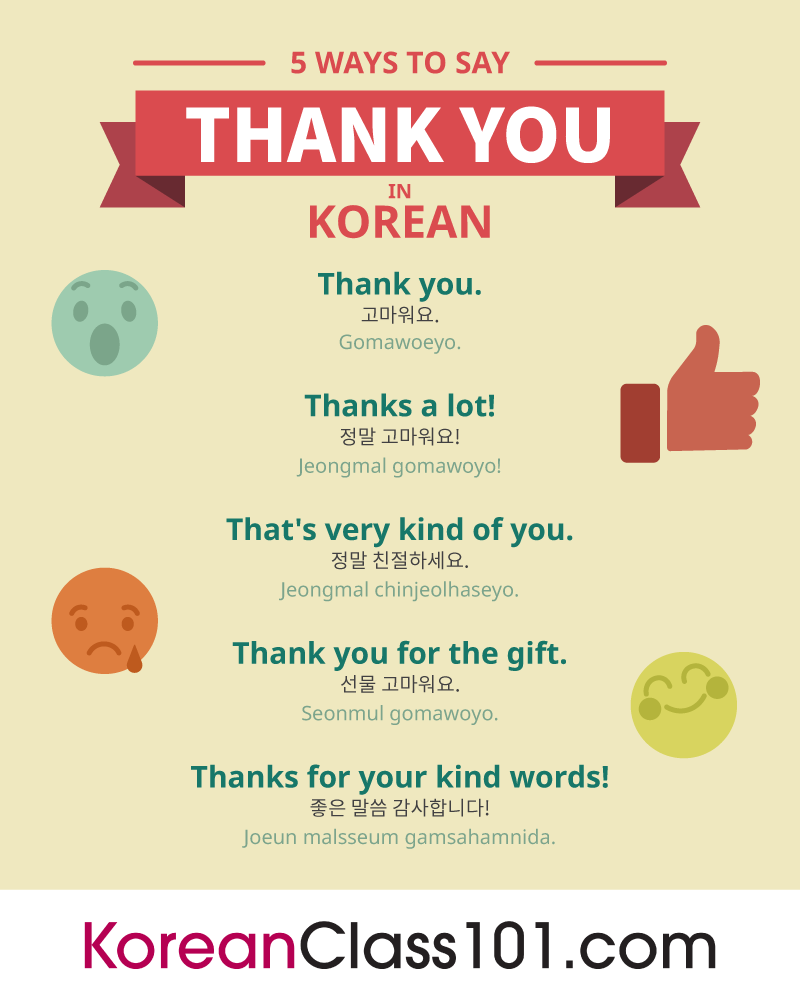 5 Ways to Say Thank You in Korean