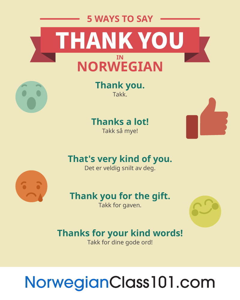 5 Ways to Say Thank You in Norwegian