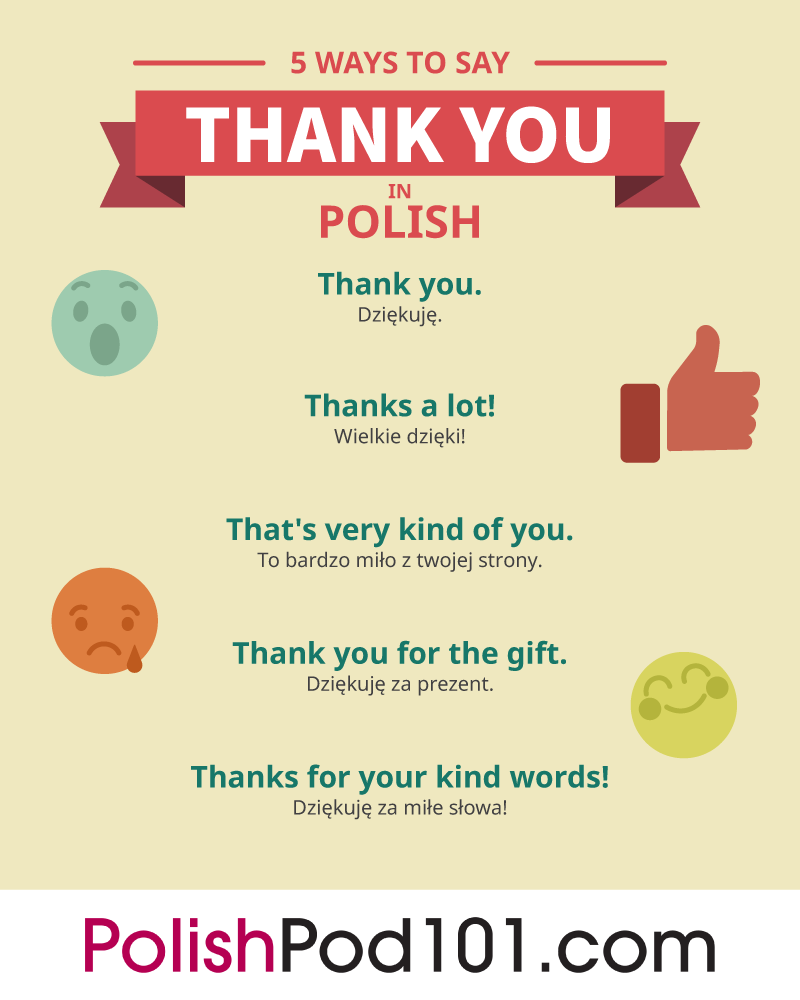 How To Say Thank You In Polish Polishpod101