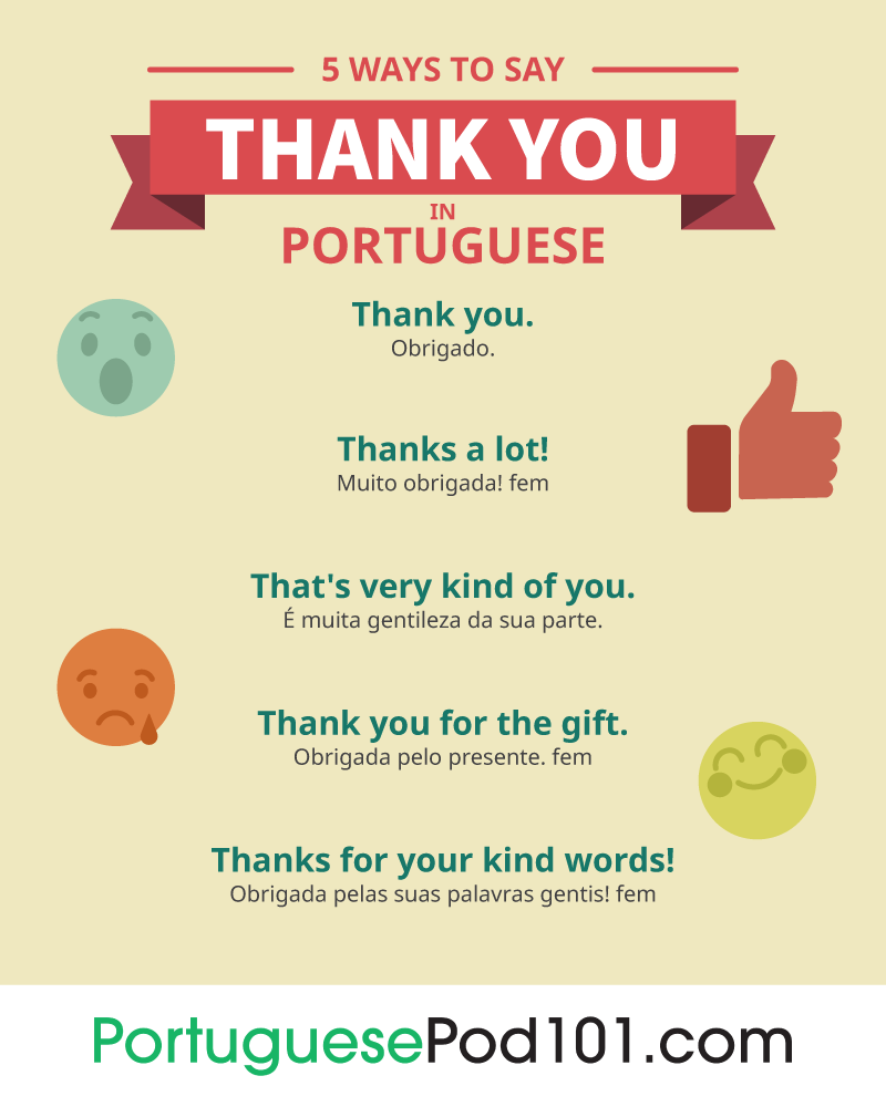 5 Ways to Say Thank You in Portuguese