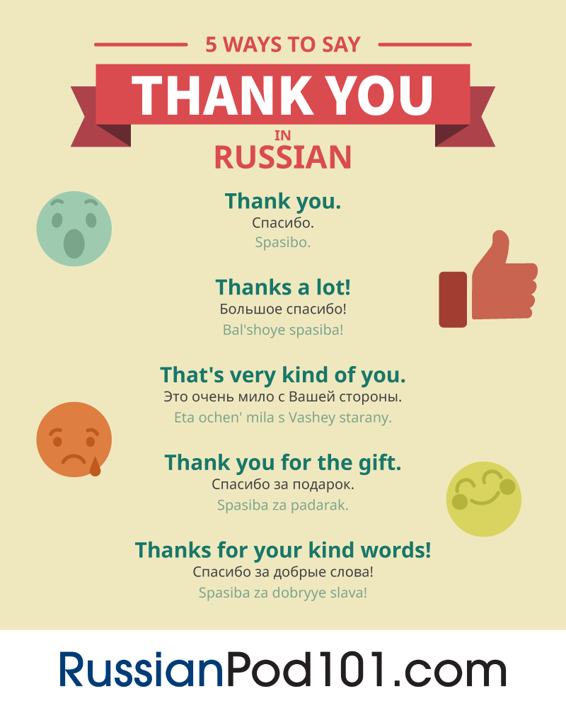 How To Say Thank You In Russian Russianpod101
