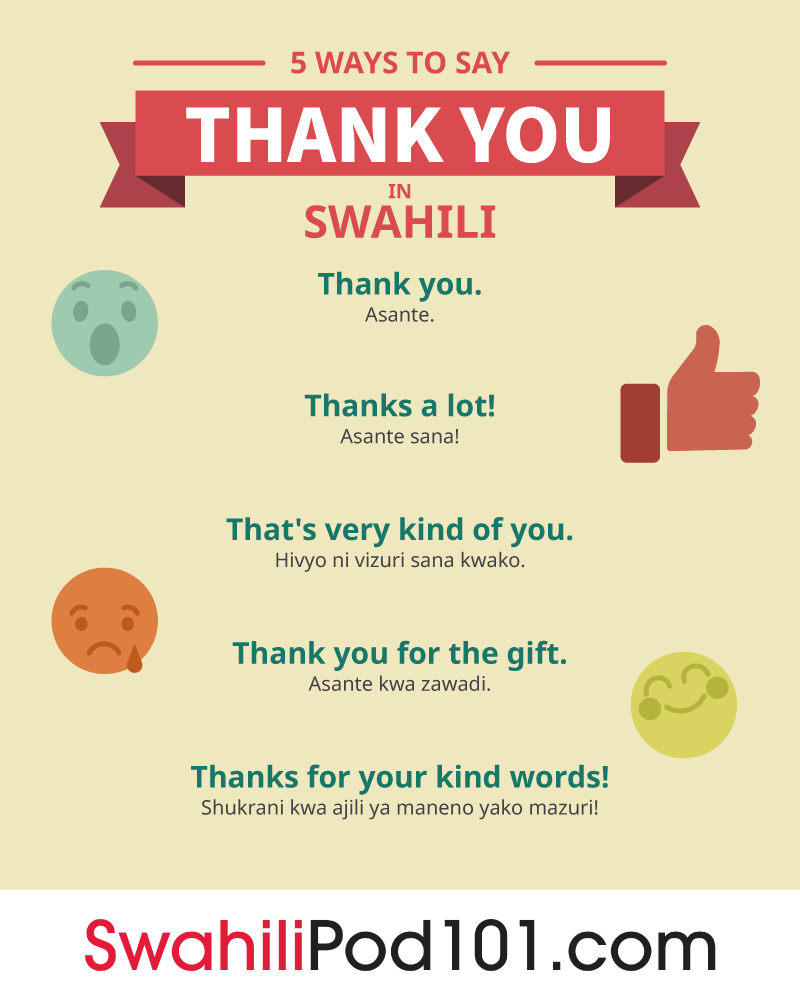 Swahili language 5 ways to say thank you in swahili m4hsunfo