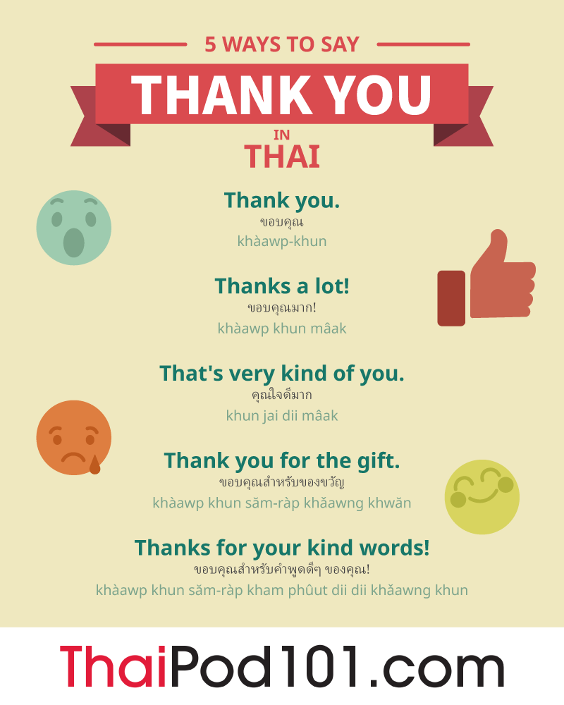 5 Ways to Say Thank You in Thai