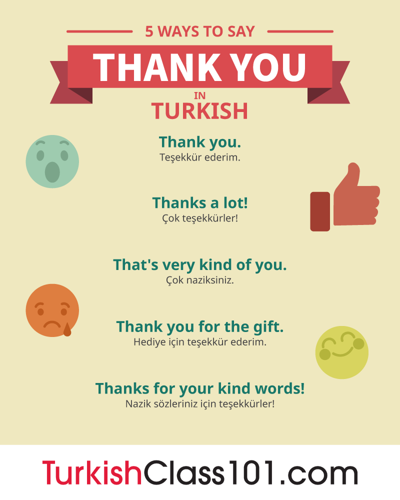 5 Ways to Say Thank You in Turkish