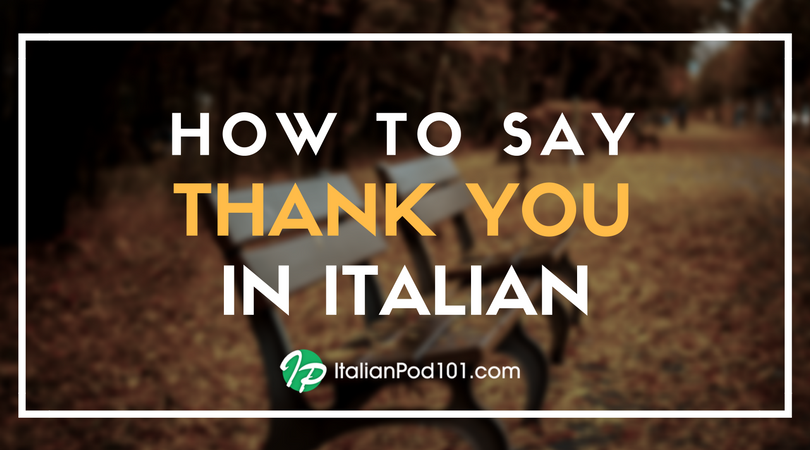How to say thank you in italian italianpod101 how to say thank you in italian m4hsunfo