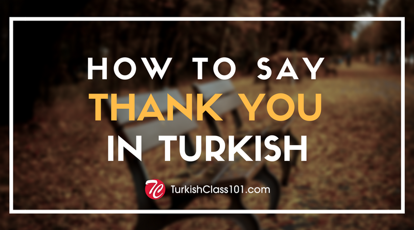 How to Say Thank You in Turkish