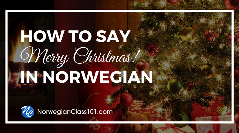 how to say merry christmas in norwegian