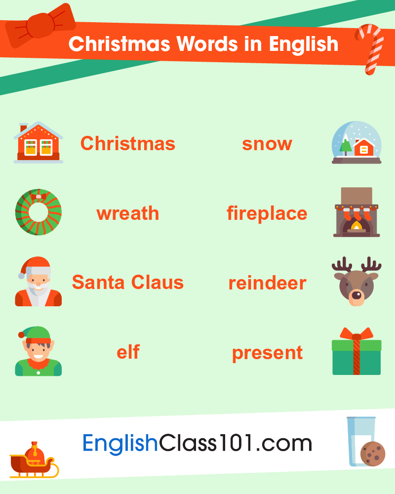 Christmas Words in English