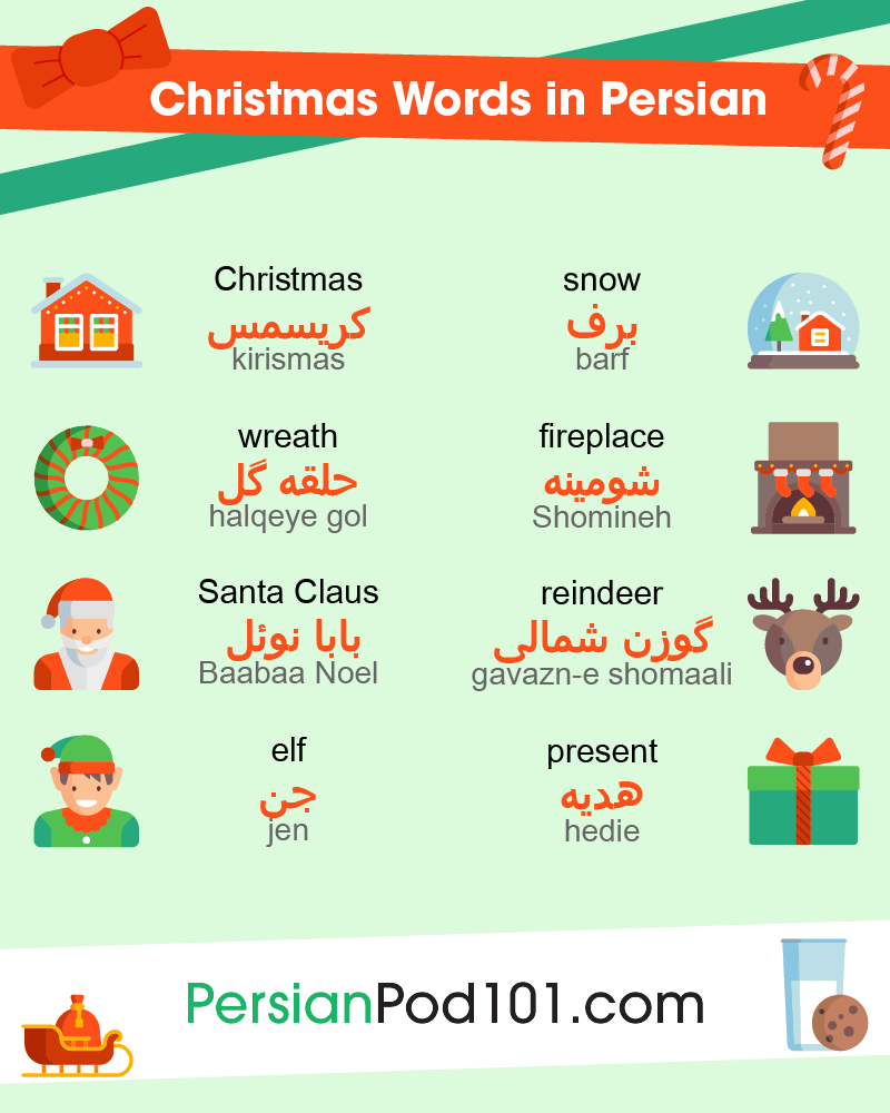 How to say merry christmas in persian persianpod101 holiday greetings and wishes for the holiday season m4hsunfo
