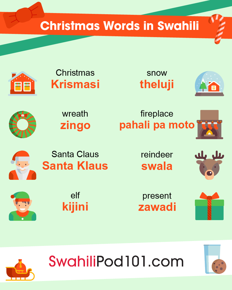 Christmas Words in Swahili