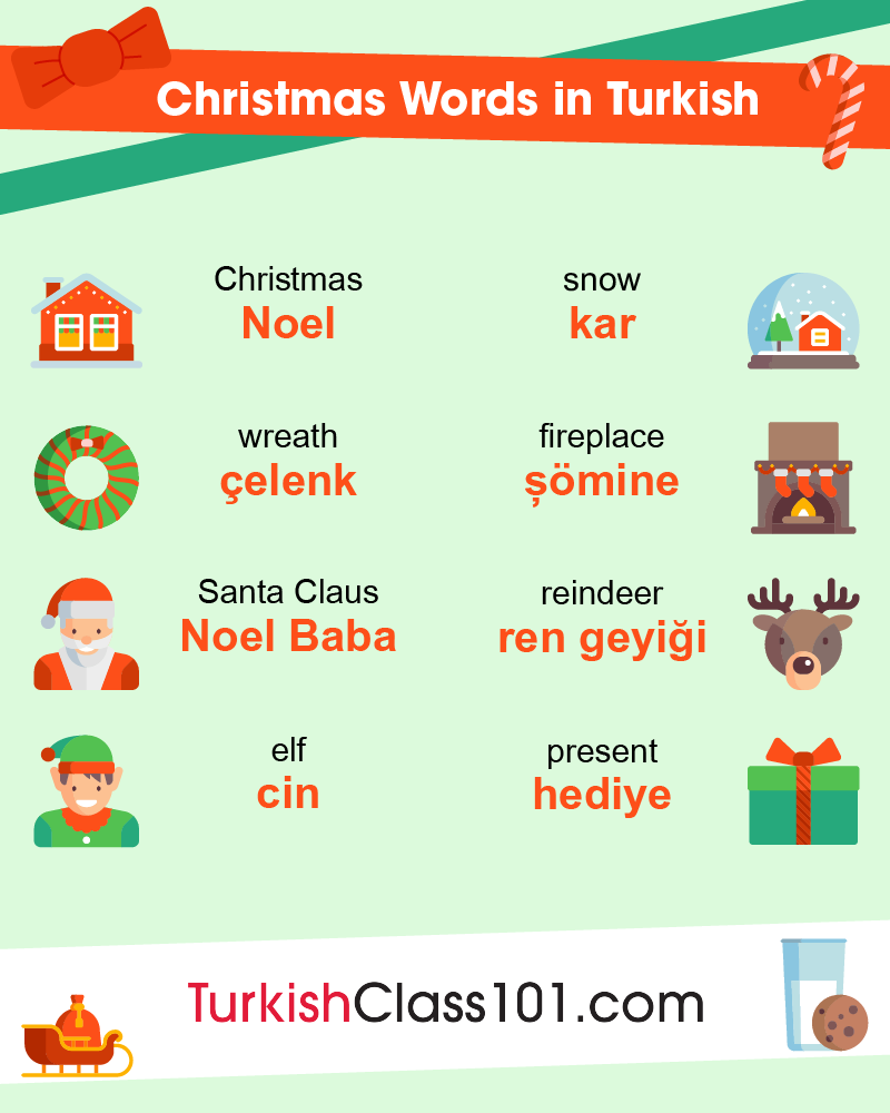 Christmas Words in Turkish