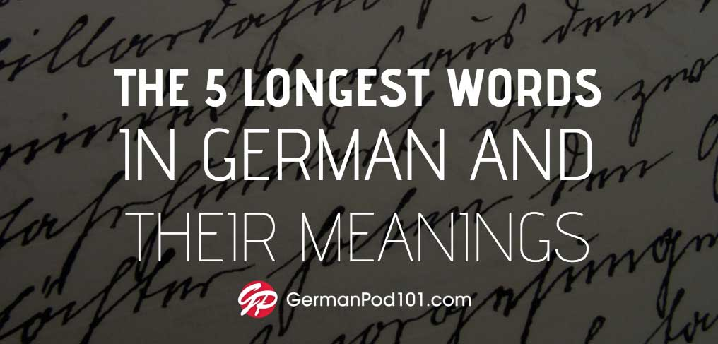 Longest Words in German