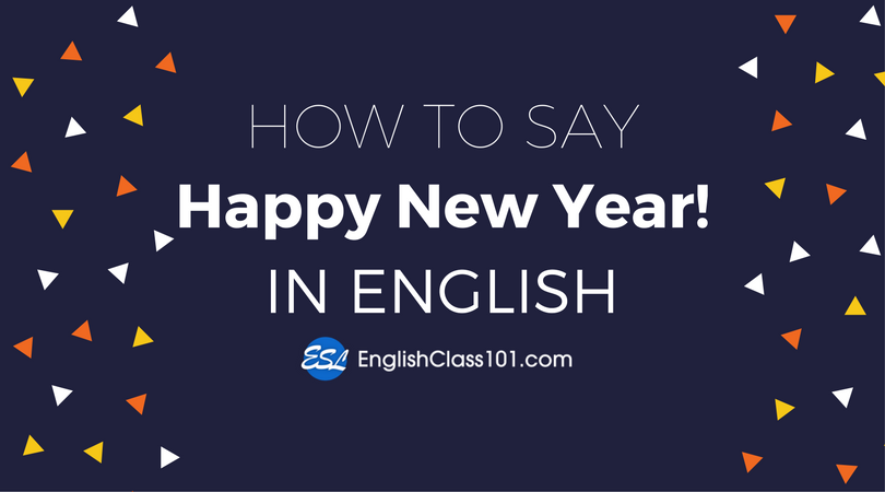 how to say happy new year in english
