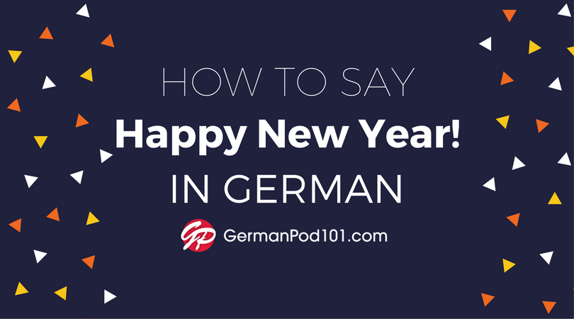 how to say happy new year in german