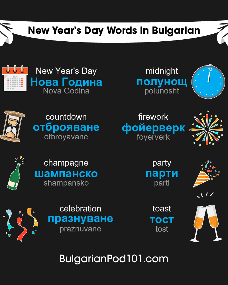 Bulgarian Words & Phrases for the New Year