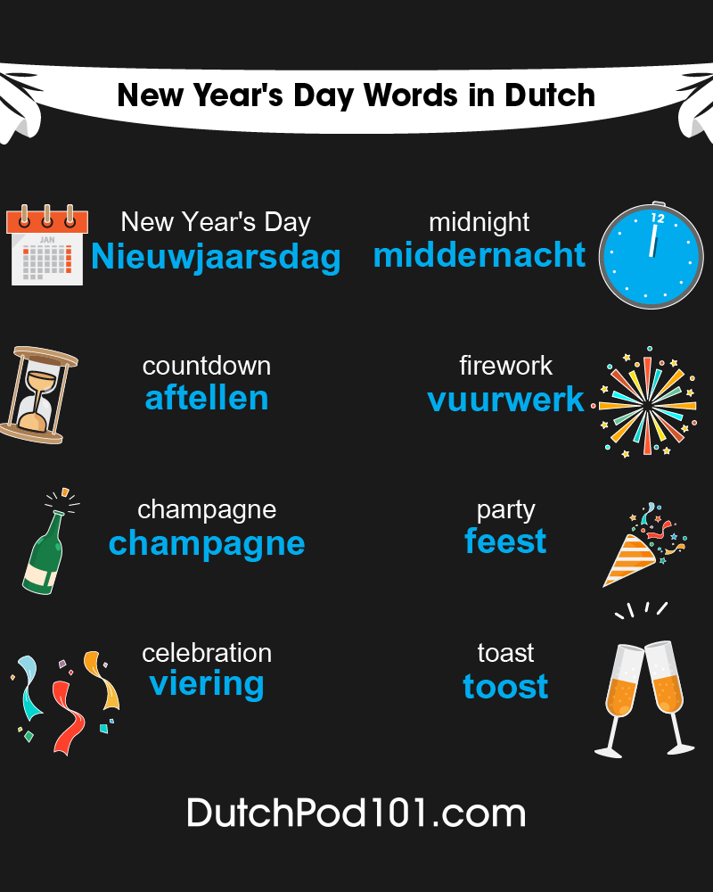 Dutch Words & Phrases for the New Year