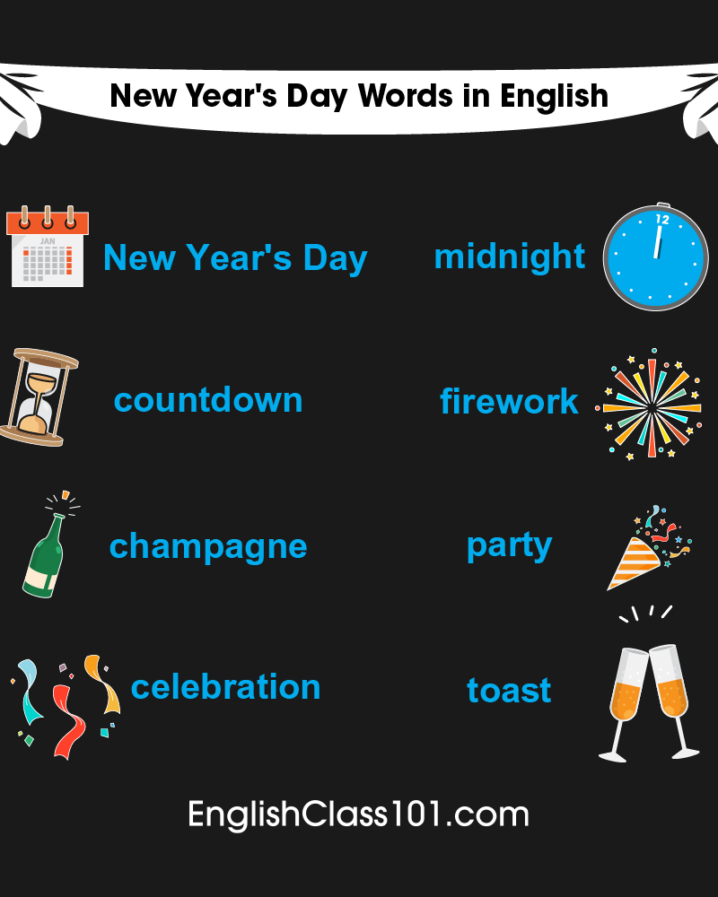 English Words & Phrases for the New Year