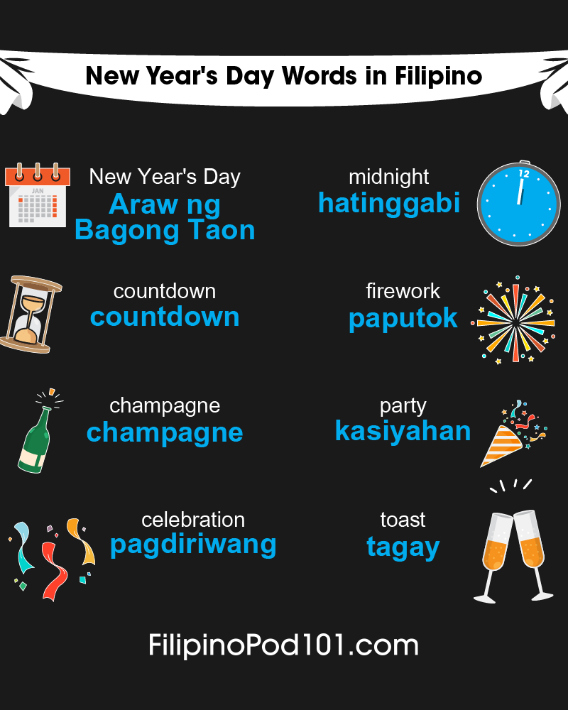 Filipino Words & Phrases for the New Year
