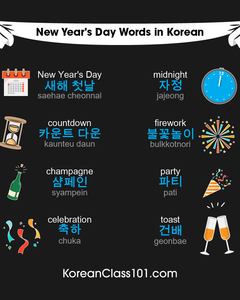 Korean Words & Phrases for the New Year