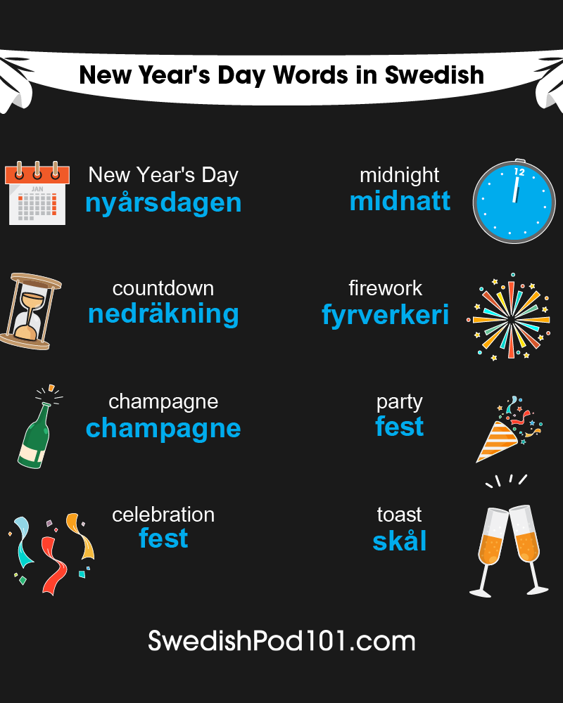 Swedish Words & Phrases for the New Year